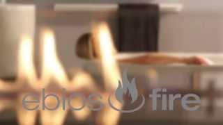 Ebios Fire   kominek na biopaliwo w łazience