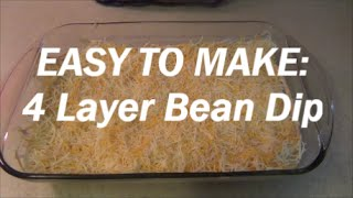 Easy 4 Layer Bean Dip Recipe [cooking With Chrissy- #1]