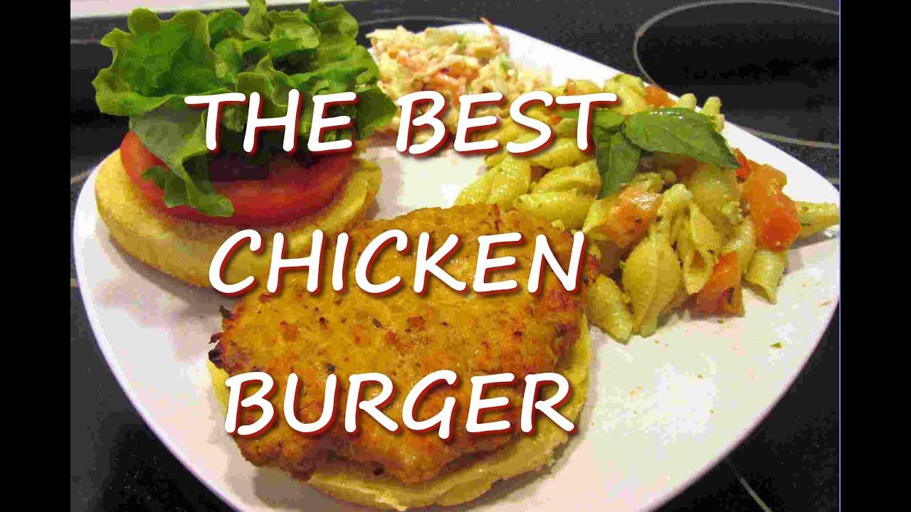 Healthy Ground CHICKEN BURGER Recipe ~ THE BEST Chicken