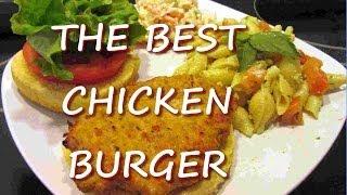 Healthy Ground CHICKEN BURGER Recipe  THE BEST Chicken Burger