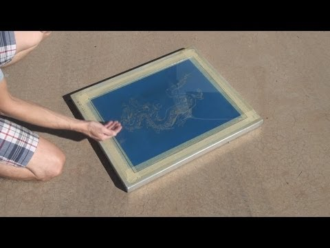 How To Screen Print: Can The Sun Be Used To Expose Screens?