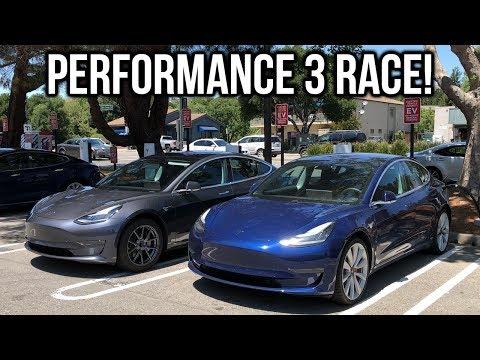 Tesla Model 3 Performance Vs Tesla Model 3 Race Comparison