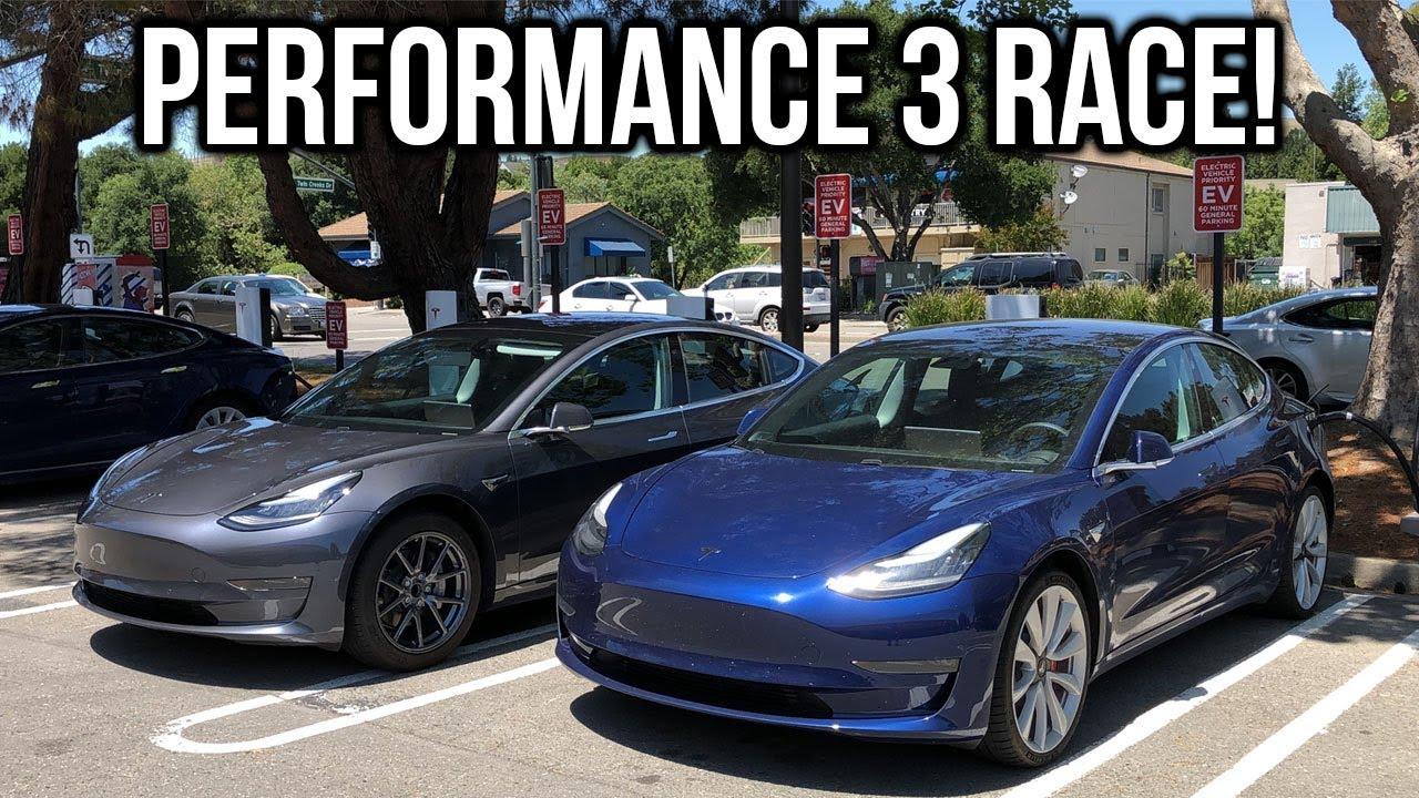 Tesla Model 3 Performance vs Tesla Model 3 Race Comparison ...