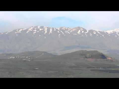 Observation from the Israeli side on Mount Hermon and the Syrian Golan Heights region (Quneitra)