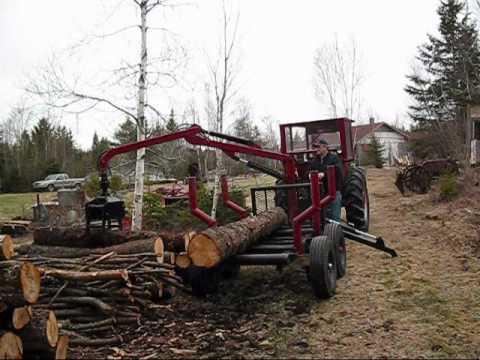 Grapple Trailer For Sale >> My home made log loader Video # 1 - YouTube