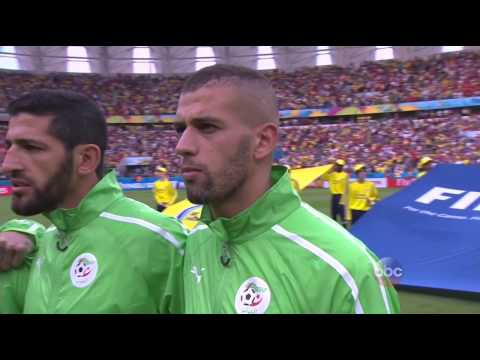 Korea Republic vs Algeria National Anthems at FIFA World Cup 2014