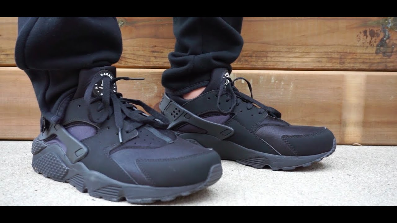brand new 1f42c d4c31 On feet  Nike Air Huarache (Black Black White)