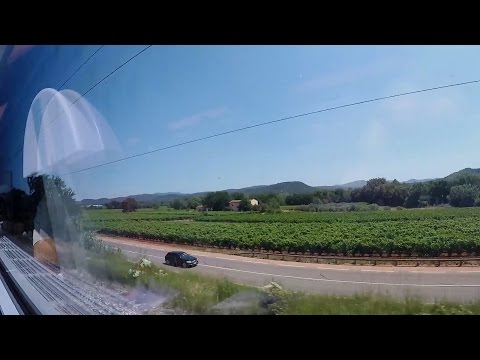 SNCF TGV Trip from Toulon to Antibes, Coastal-Side/South View, July 2016