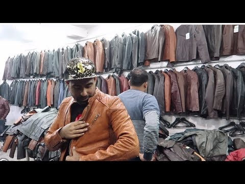 Cheapest Leather Jacket Market | Exploring Factory | DELHI