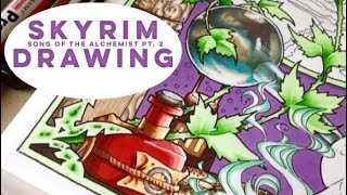 Skyrim drawing with Promarkers - Alchemy (2 of 3)