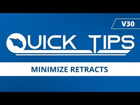 Minimize Retracts - BobCAD CAM Quick Tip