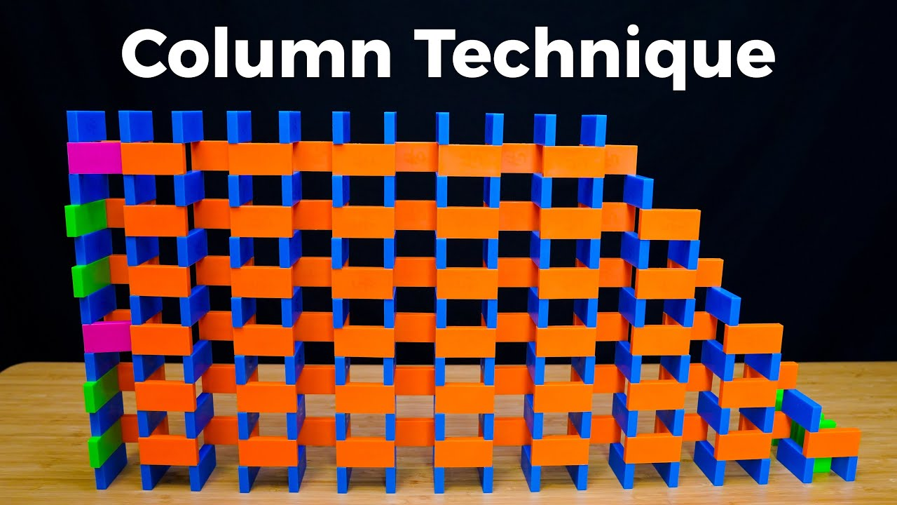 How to Build a Domino Wall (pt. 2: Column Technique)