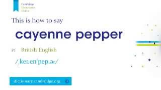 How to say cayenne pepper