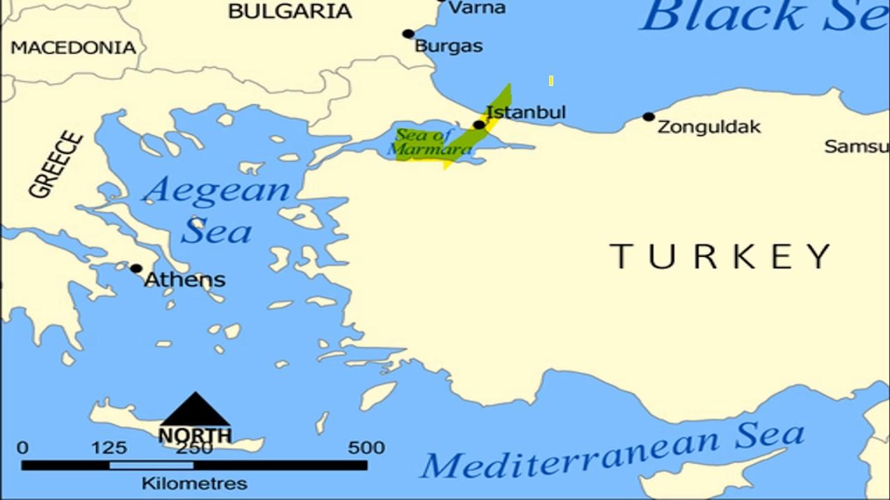 Black Sea On Map on