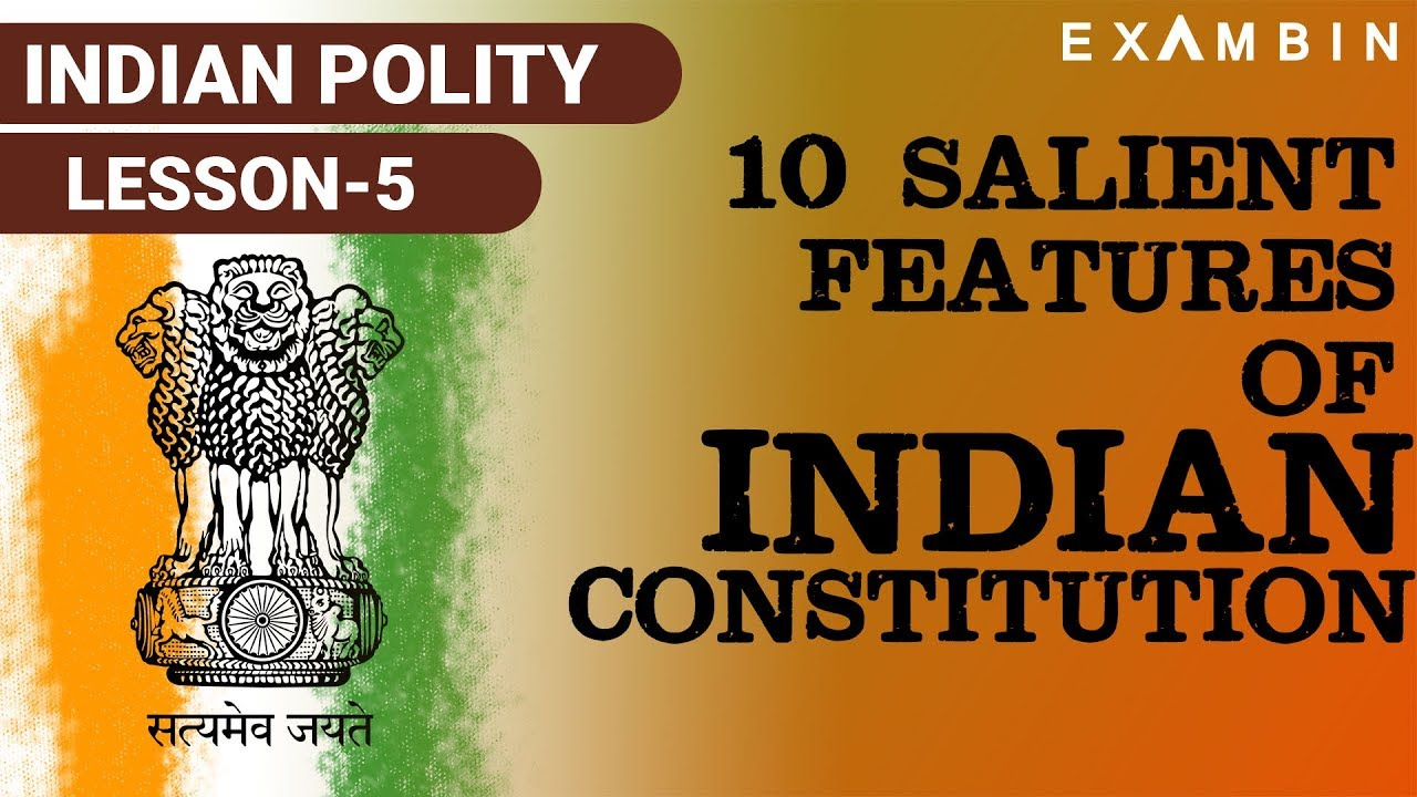 features of indian constitution in points