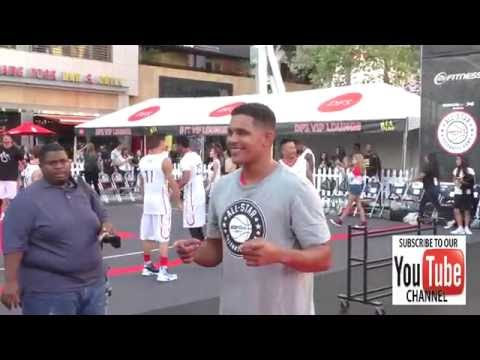 Jonathan 'Lil J' McDaniel at the 8th Annual Nike Basketball 3ON3 Tournament at Microsoft Square at L