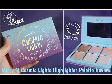 Barry M Cosmic Lights Highlighter Palette Review! Vegan! Cruelty free!
