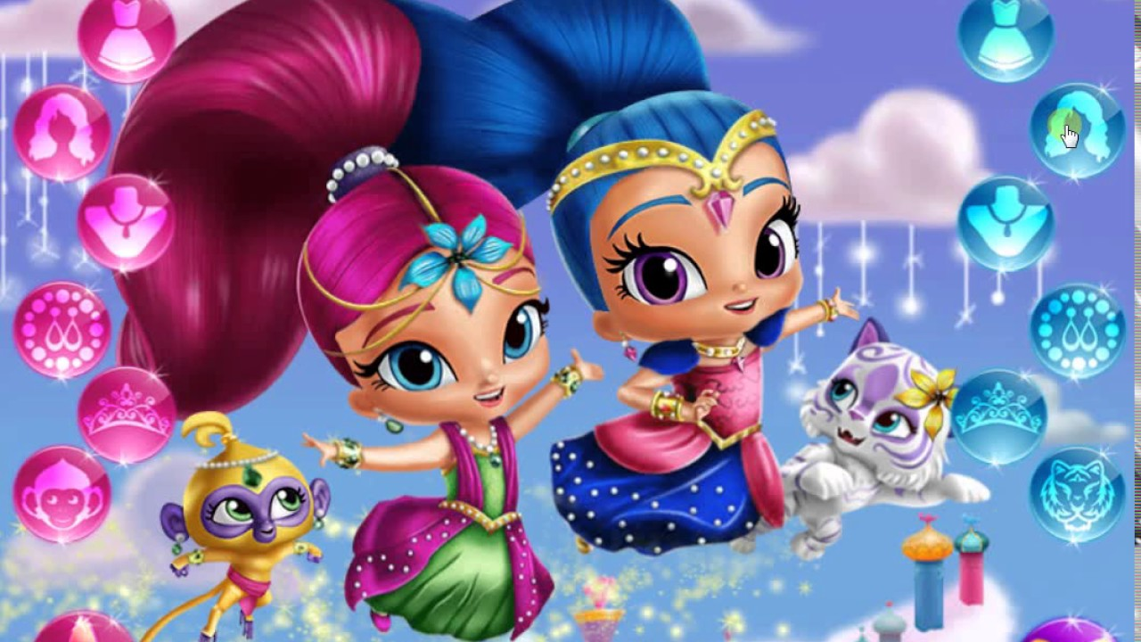 Shimmer & Shine: Flip and Match Game - Play online at Y8.com