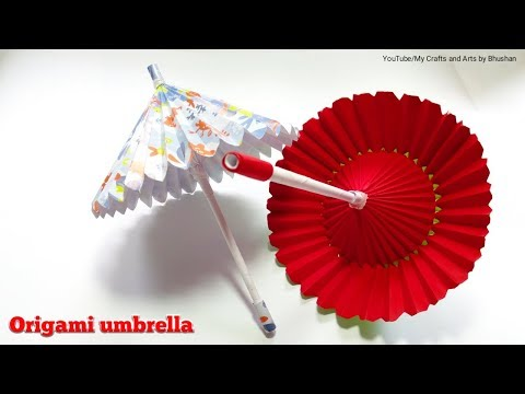 How to make an origami umbrella? || paper umbrella ||DIY umbrella