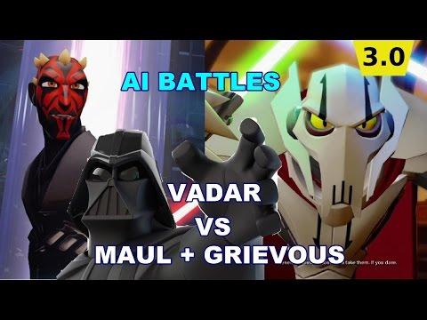 Disney Infinity AI Battles Vader v Maul and Grievous  