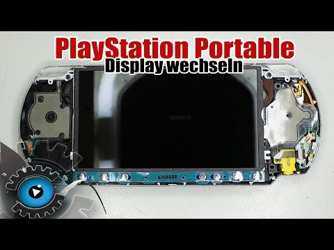 PSP - PlayStation Portable Display Wechseln Tauschen Reparieren [Deutsch/German]
