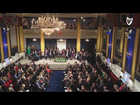 VIDEO: Proceedings begin for the inauguration of Michael D. Higgins at Dublin Castle