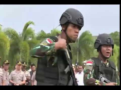 Yel-yel Brimob Polda Aceh