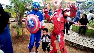 Ketemu Badut Superhero Di Taman Kota Pada Opening Acara Tasikmalaya Oktober Festival 2018!