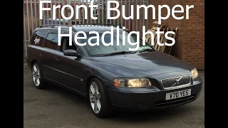 How to Remove Headlights and Front Bumper Volvo V70 S60 MK2 Facelift Front Bumper