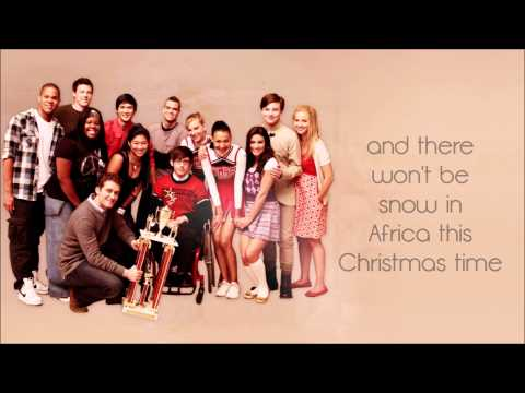 Glee - Do They Know It's Christmas (Lyrics) HD
