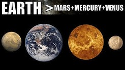 Hard to Believe That Earth Is Bigger Than Venus+Mercury+Mars