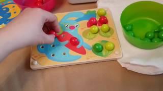 Обзор деревянной Мозаики-шнуровки! Мир деревянных игрушек