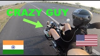 "American visiting India ""I Rode my Royal Enfield to the Taj Mahal!\"""