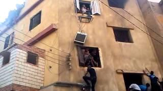 حرق قسم شرطة بني سويف