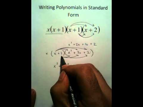 Moya Math Algebra 2 Writing Polynomials In Standard Form Youtube