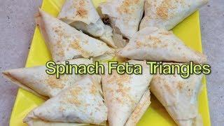 Spinach Feta Triangle Video Recipe Cheekyricho