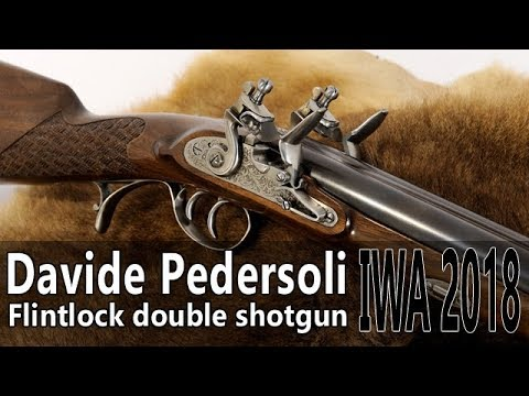 Pedersoli flintlock double shotgun - IWA 2018 part 1