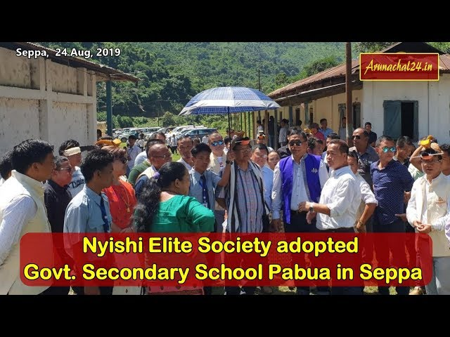 Nyishi Elite Society adopted Govt  Secondary School Pabua in Seppa