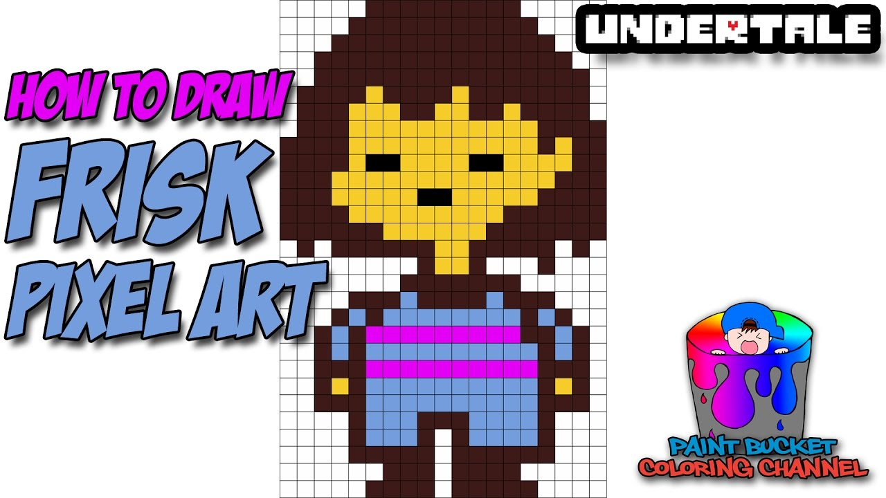 Scary Pixel Grid Undertale Chara
