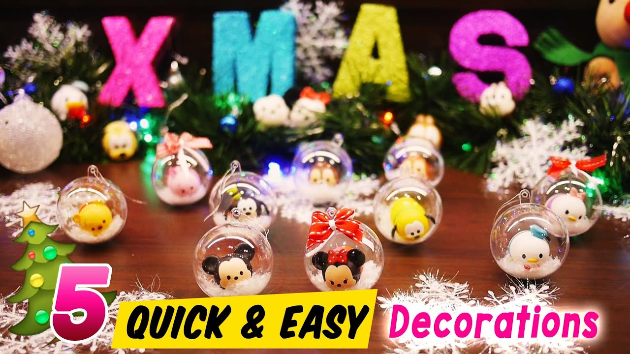 5 quick and easy disney tsum tsum christmas tree decorations youtube - Disney Christmas Tree