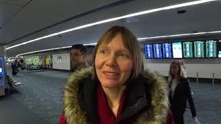 США. Калифорния. Аэропорт Сан Франциско. Новый Год и у нас новички из Горно-Алтайска - мама и дочь.
