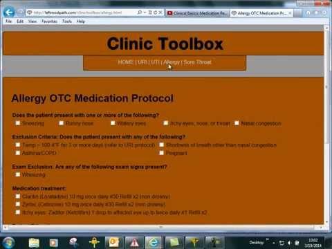 Medic Nurse Clinic Decision Support Tool