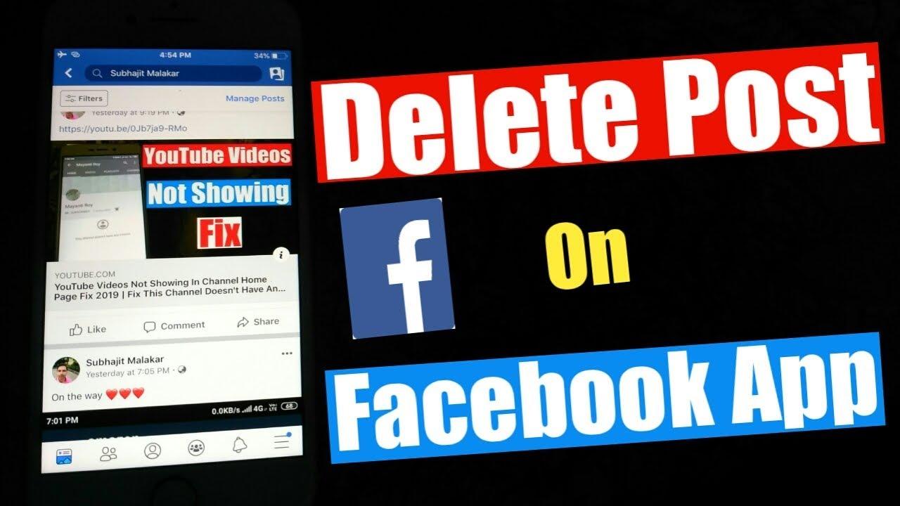 How To Delete Post On Facebook App 2019 | Delete Facebook Post From Mobile  | Remove Facebook Post