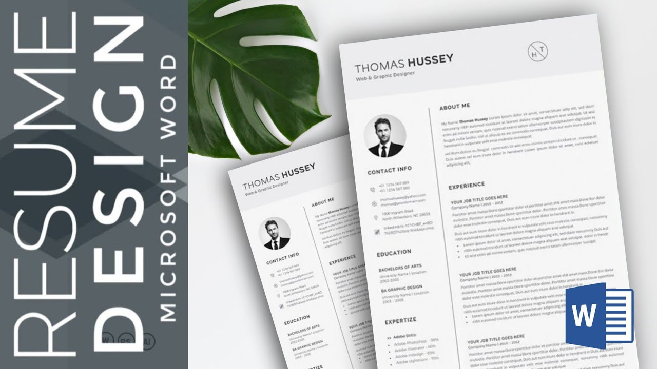 Microsoft Word How To Create A Cv Resume Template In Ms Word Download Template Ats Friendly Youtube