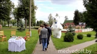 Большая Панда и Медведь на свадьбе в Минске