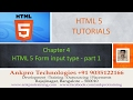 HTML 5 - Chapter 4 - HTML 5 Form input types color,  week, datetime, number- part 1