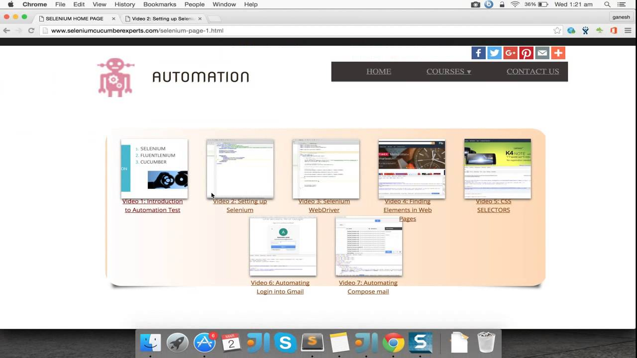 Selenium tutorials Video 10: Automating Hovering Action
