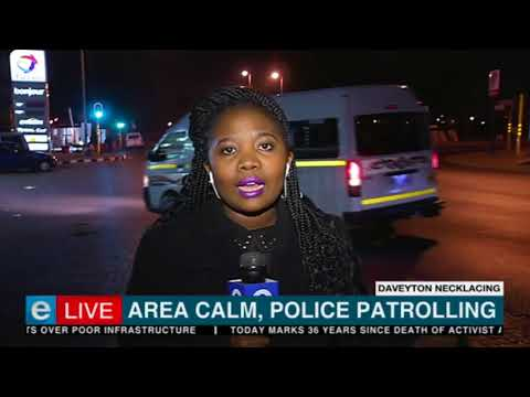 Area calm, police patrolling in Daveyton