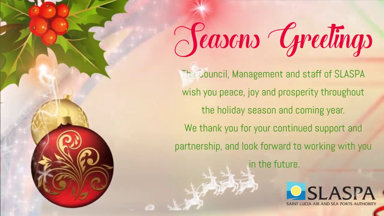 Seasons greetings from the management and staff of the saint lucia seasons greetings from the management and staff of the saint lucia air and sea ports authority kristyandbryce Image collections