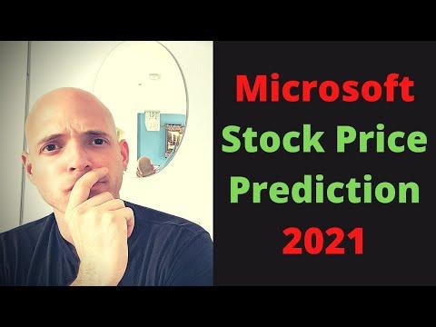 Microsoft Stock Price Prediction 2021   MSFT Stock Analysis